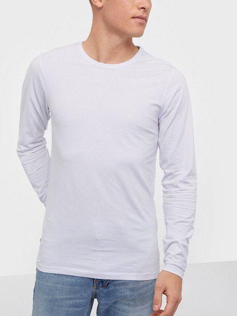 Jack & Jones Basic O-Neck Tee L/S Noos T-paidat ja topit Valkoinen