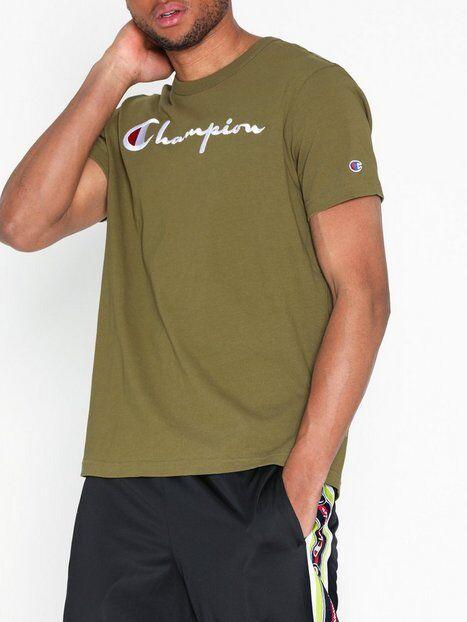 Champion Crewneck T-Shirt T-paidat ja topit Tummanvihreä
