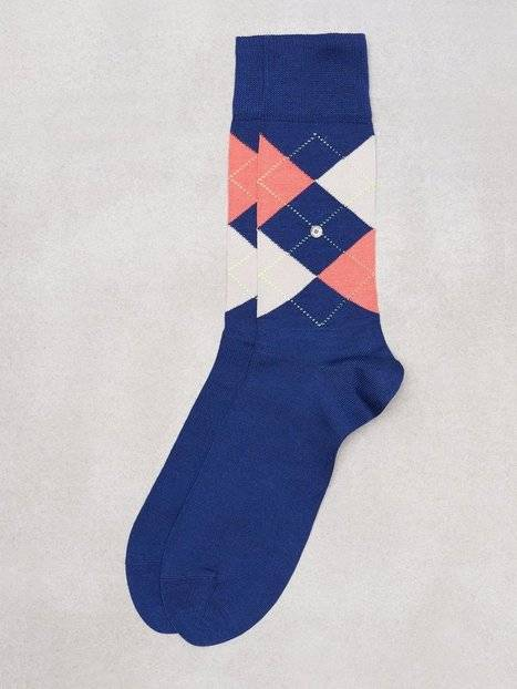 Burlington Manshester Sock Sukat Royal Blue