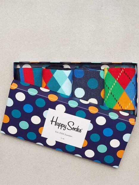 Happy Socks Mix Gift Box Sukat Sinikuviollinen