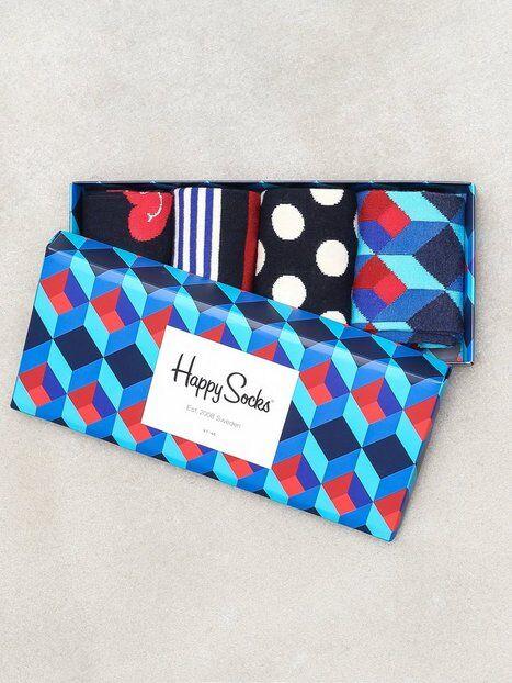 Happy Socks Nautical Gift Box Sukat Blue