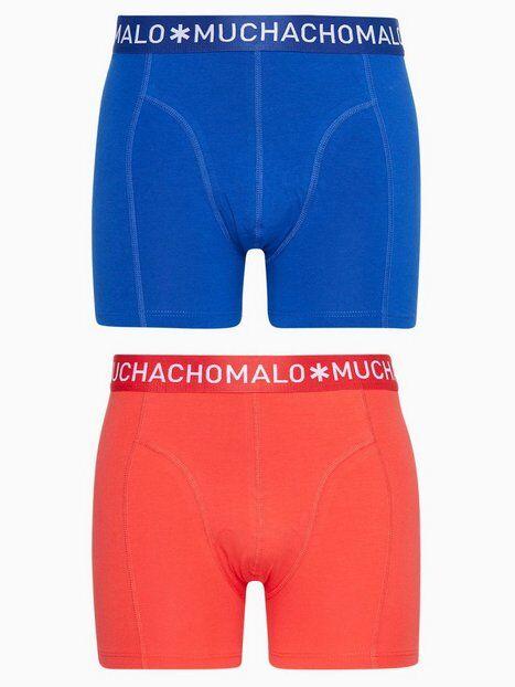 Muchachomalo Solid Boxer 2PK Bokserit Sininen/punainen