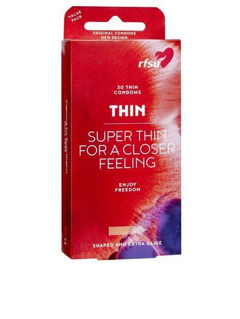 RFSU Thin Condoms 30-pack Intiimituotteet Läpinäkyvä