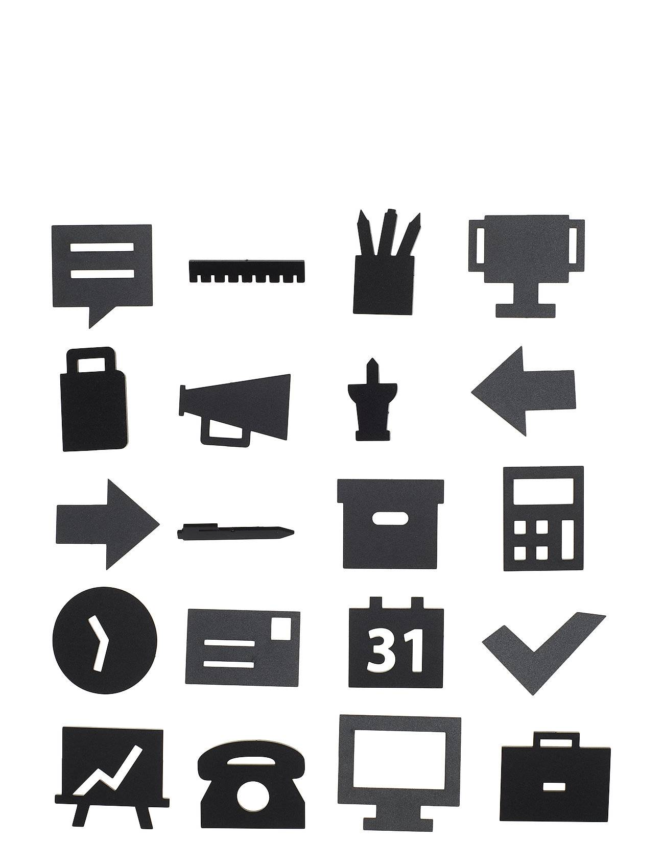Design Letters Office Icons, For Message Board Kodin Sisustus Musta Design Letters