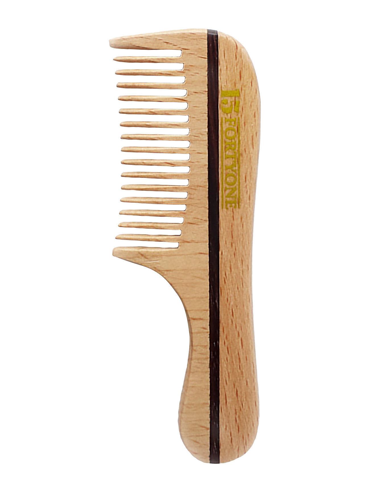 1541 of London Wooden Moustache/Beard Comb Natural Beechwood