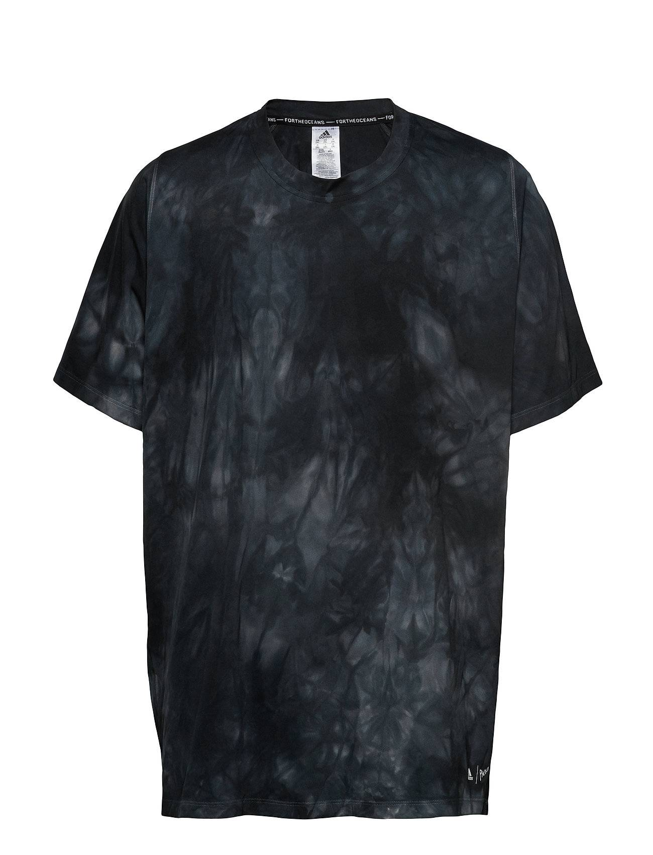 Image of adidas Performance Parley 3s Tee T-shirts Short-sleeved Musta