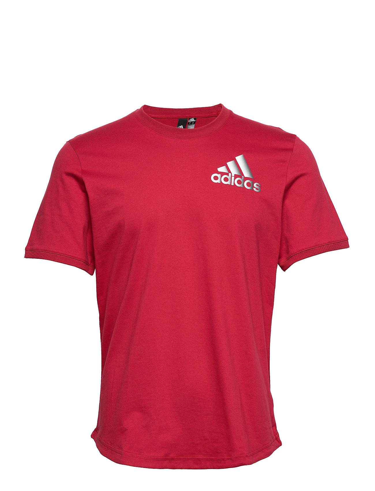 Image of adidas Performance M Sid Tee Ct T-shirts Short-sleeved Punainen Adidas Performance