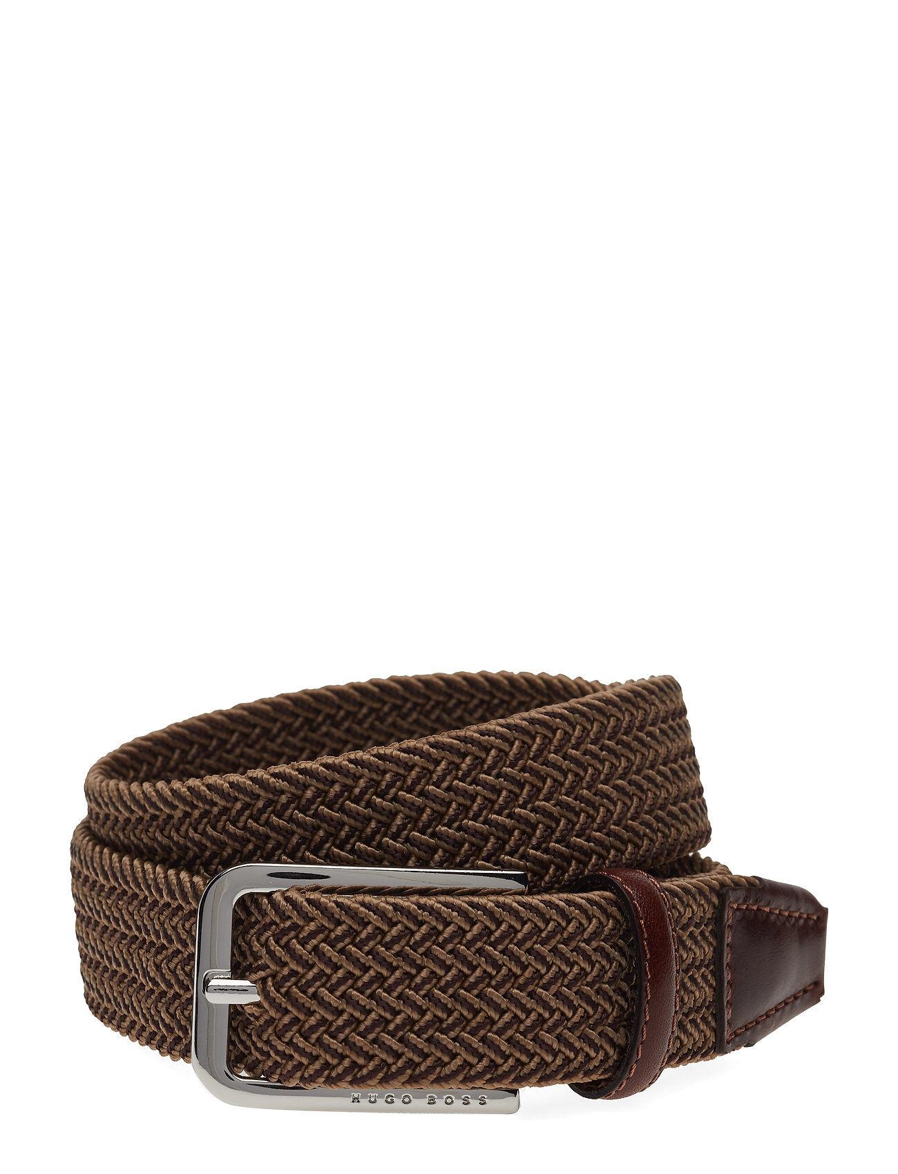 Image of Boss Clorio_sz30 Accessories Belts Braided Belt Ruskea