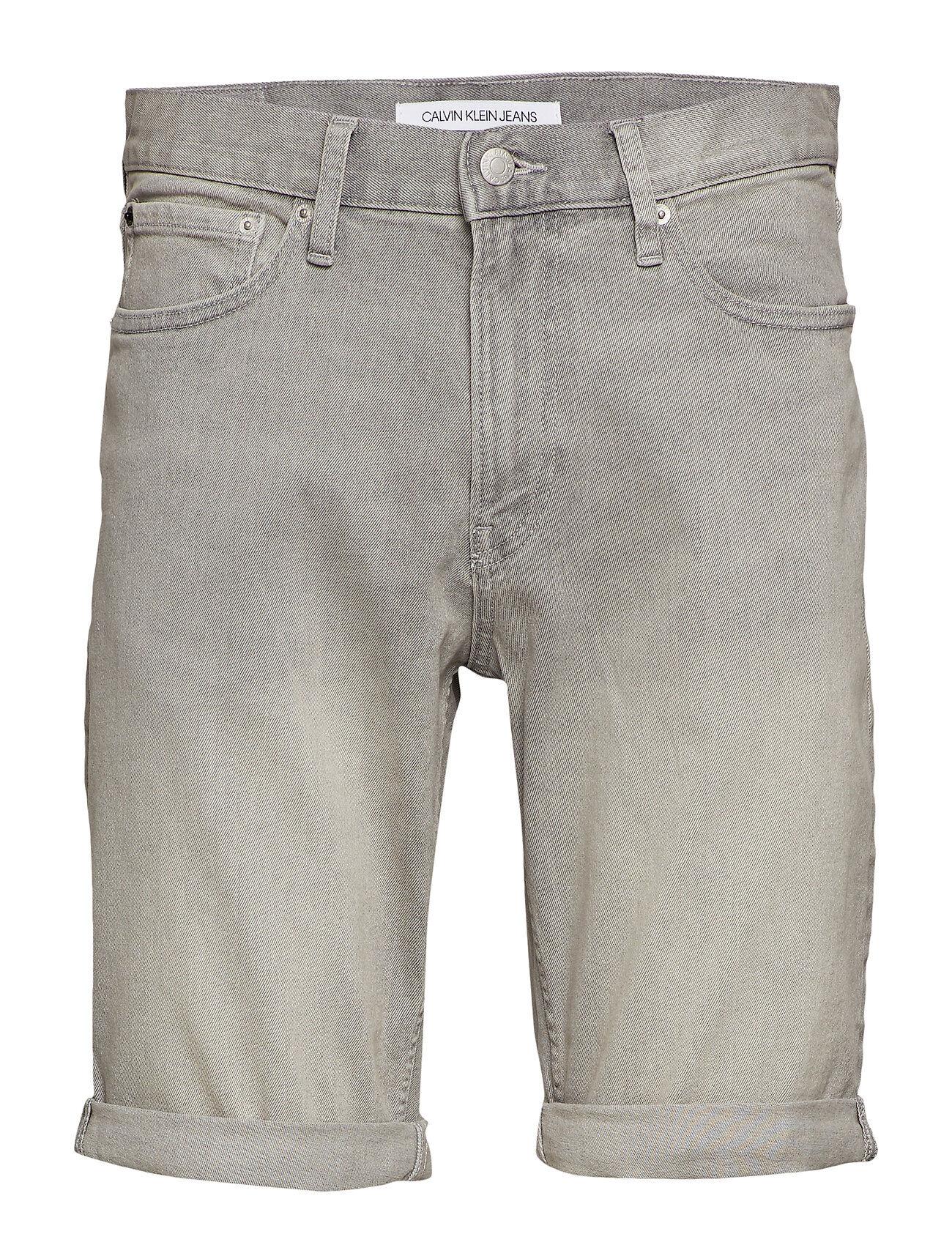 Image of Calvin Slim Short Farkkushortsit Denimshortsit Harmaa Calvin Klein Jeans