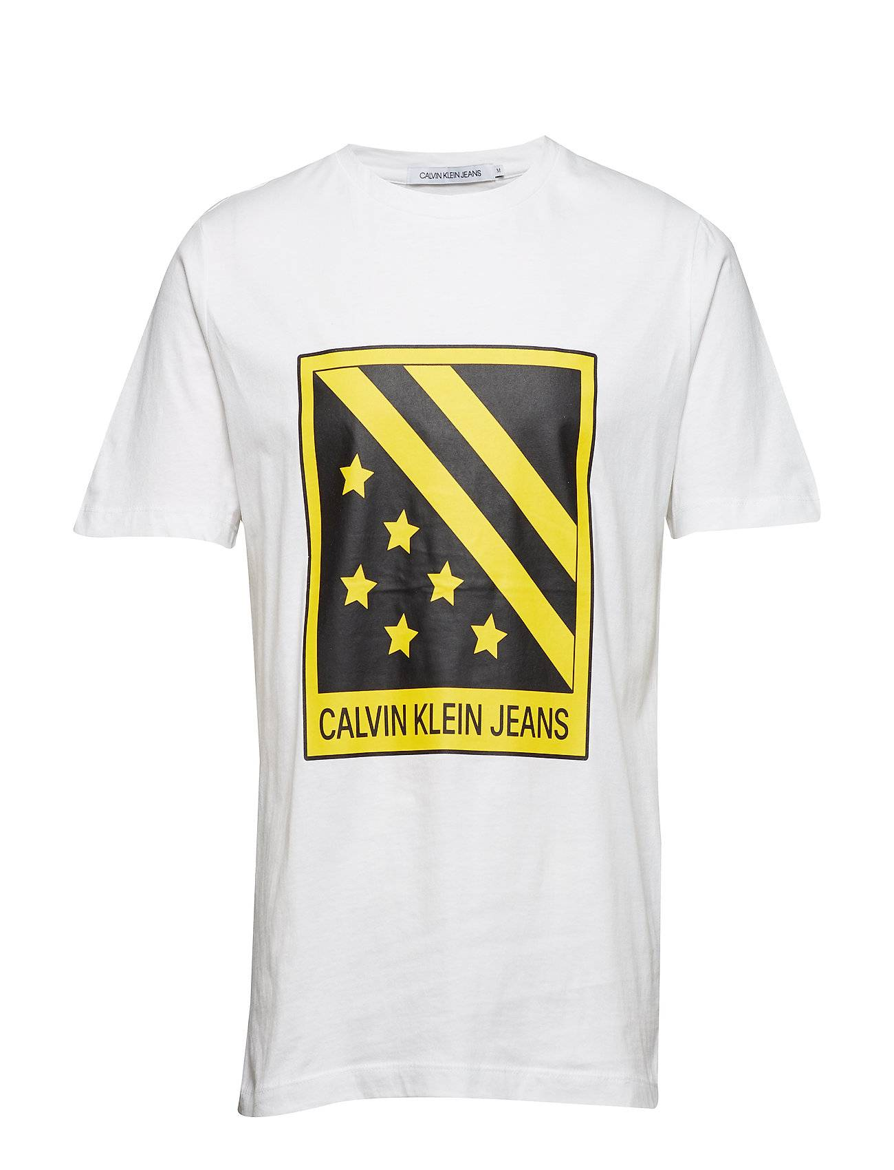 Image of Calvin Big Badge Front Ss Tee T-shirts Short-sleeved Valkoinen Calvin Klein Jeans