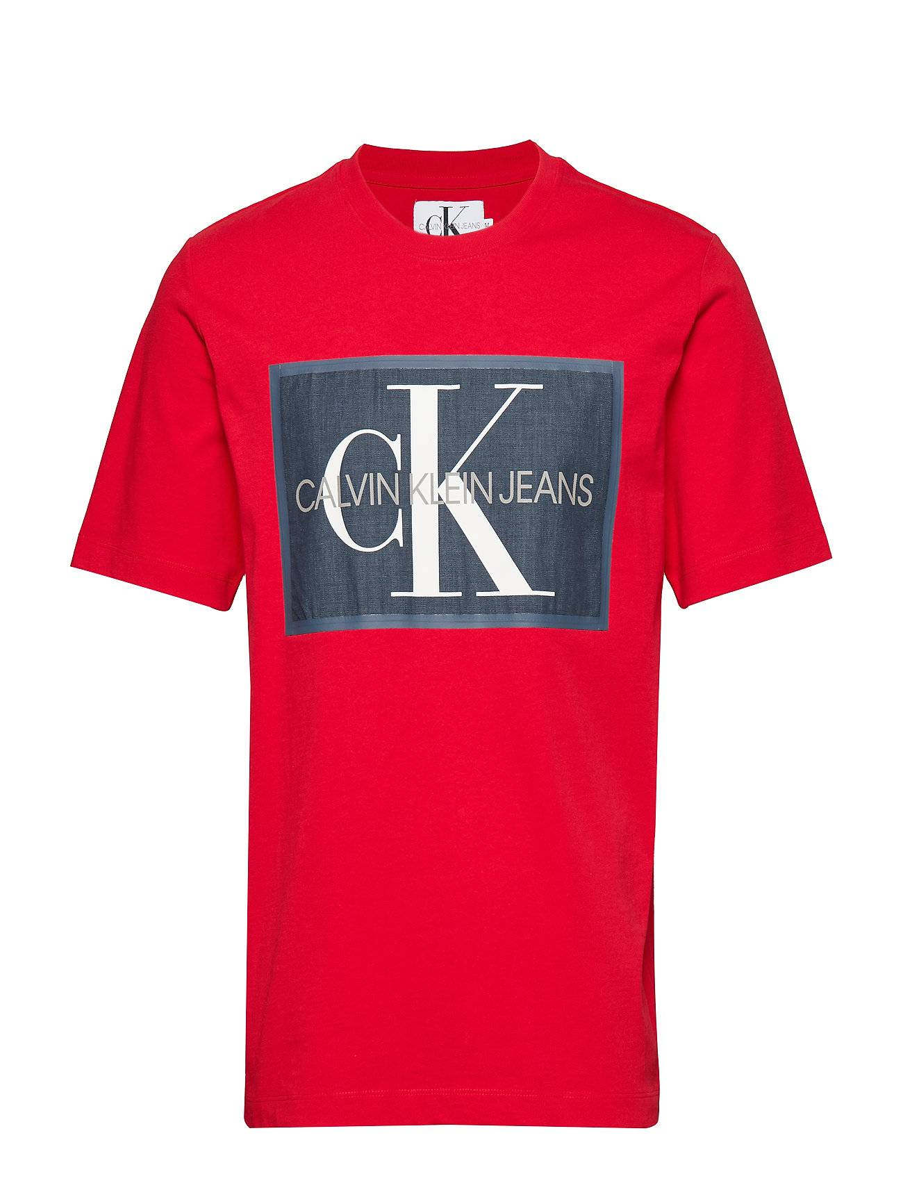 Image of Calvin Monogram Icon Box Ss T-shirts Short-sleeved Punainen Calvin Klein Jeans