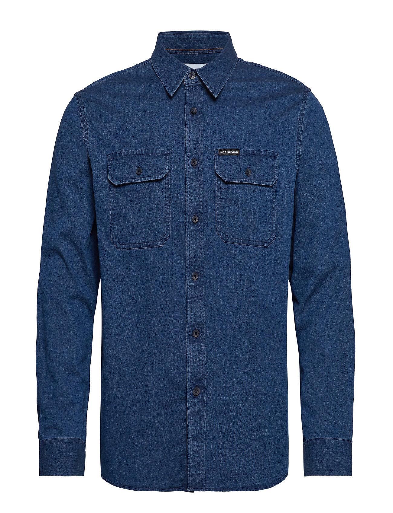 Image of Calvin Herrigb Ls Shirt, Paita Rento Casual Sininen