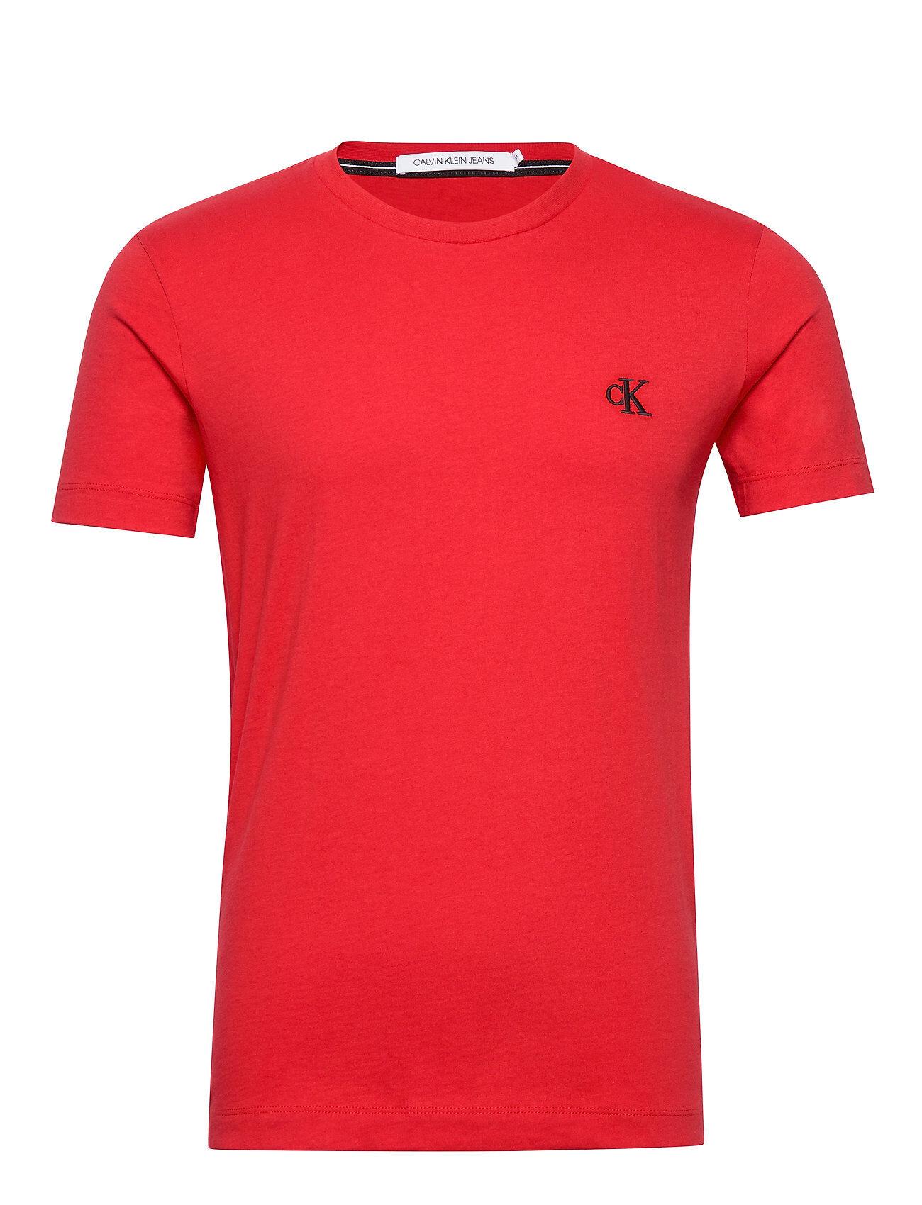 Image of Calvin Ck Essential Slim Tee T-shirts Short-sleeved Punainen Calvin Klein Jeans