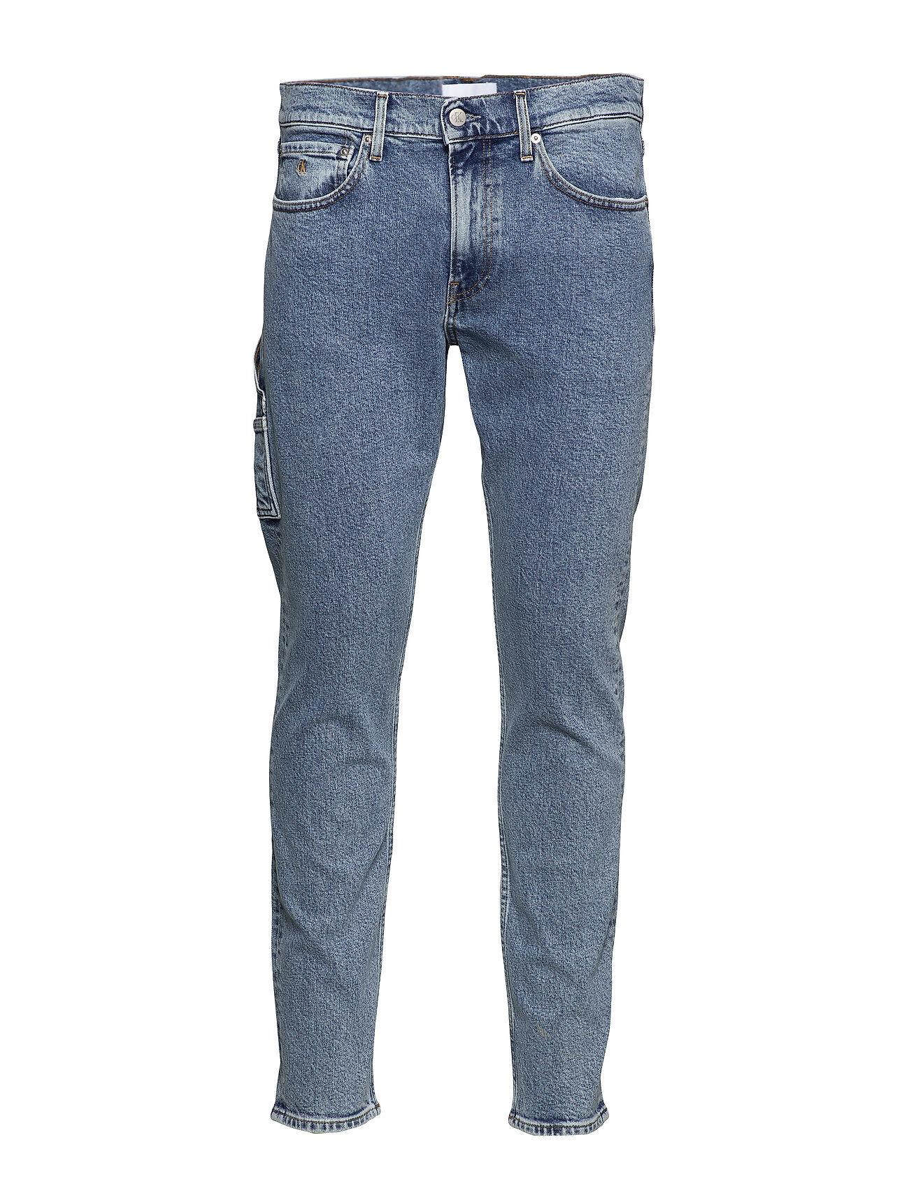 Image of Calvin Utility Slim Taper Tiukat Farkut Sininen Calvin Klein Jeans