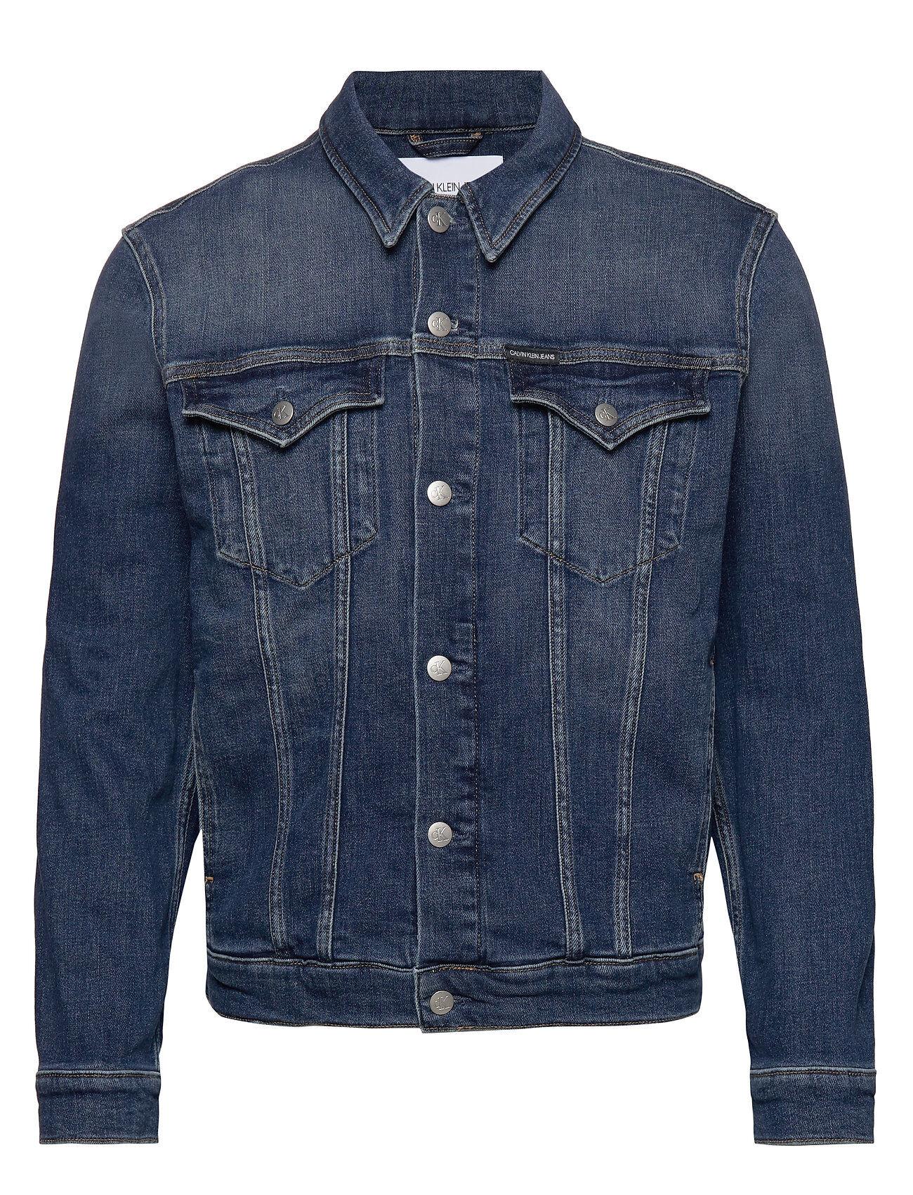 Image of Calvin Foundation Slim Denim Jacket Farkkutakki Denimtakki Sininen Calvin Klein Jeans