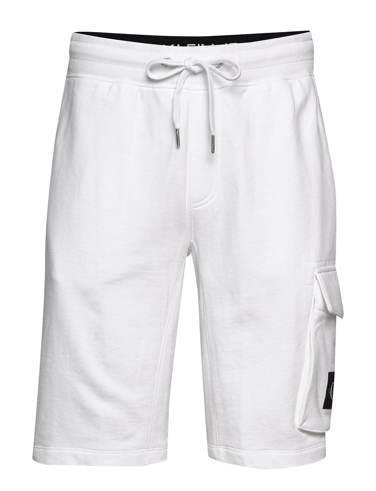 Image of Calvin Monogram Patch Hwk Short Shorts Casual Valkoinen