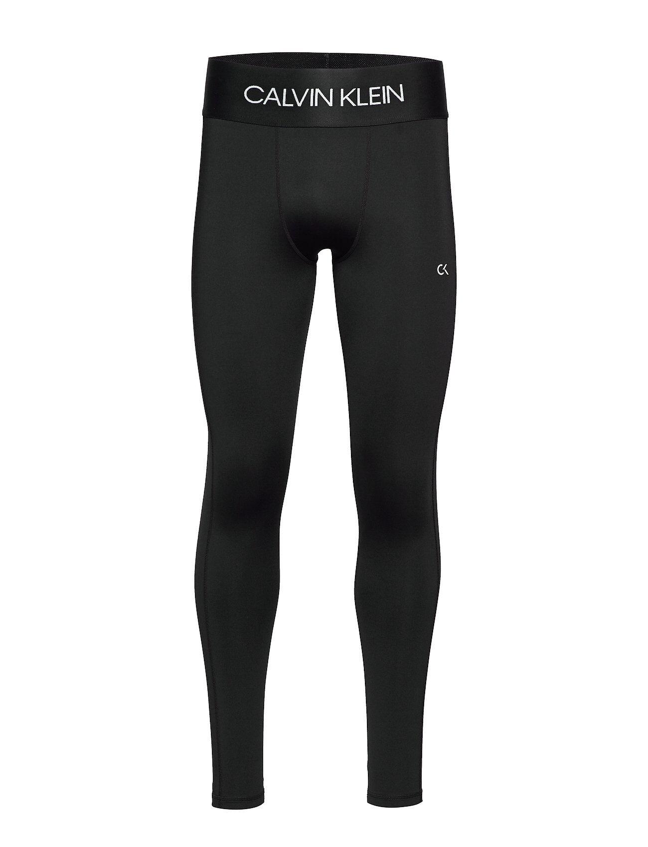 Image of Calvin Full Length Tight Running/training Tights Musta Calvin Klein Performance
