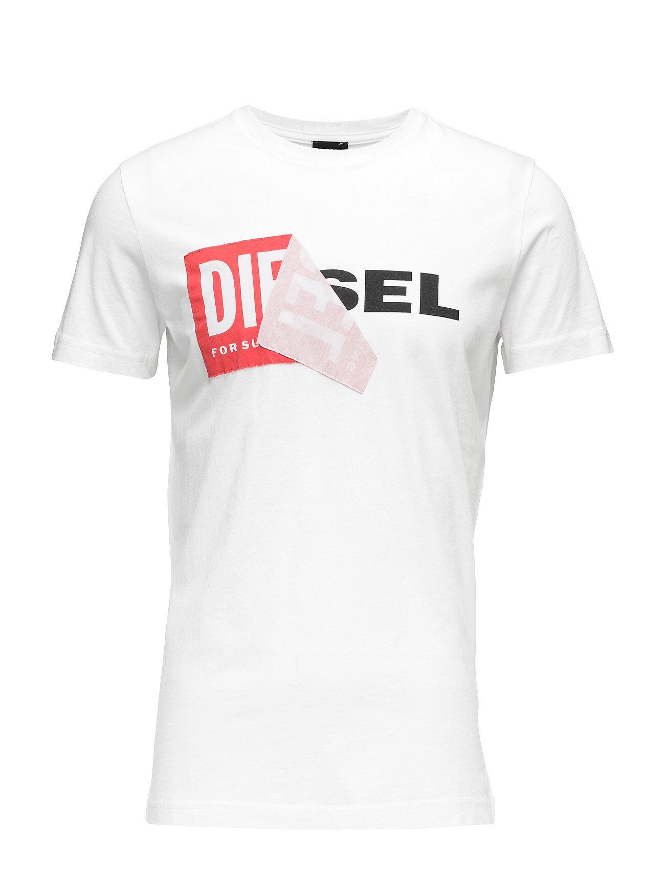 Diesel Men T-Diego-Qa T-Shirt T-shirts Short-sleeved Valkoinen Diesel Men