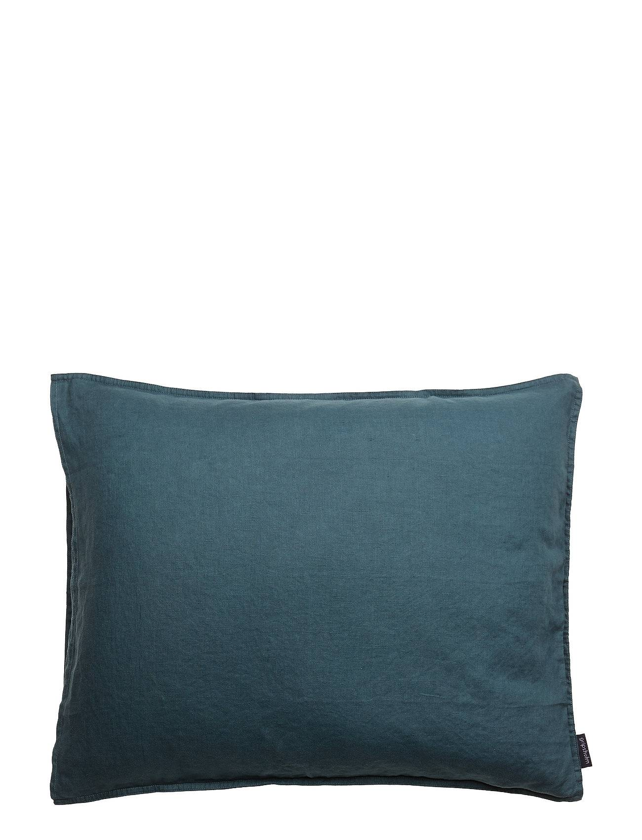 Gripsholm Pillowcase Washed Linen Home Bedroom Bedding Pillowcases Sininen Gripsholm