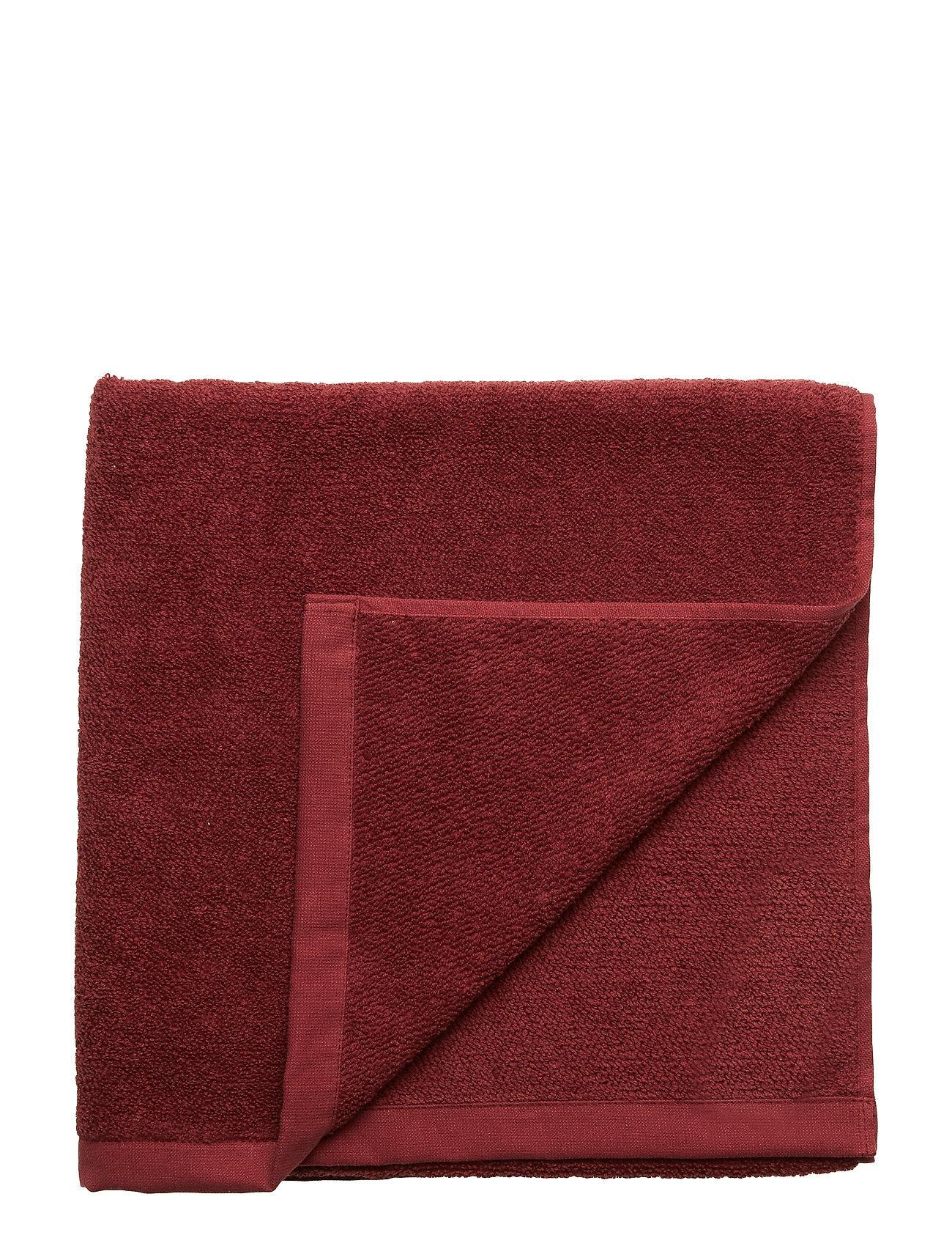Gripsholm Bath Towel Cotton Linen Home Bathroom Towels Punainen Gripsholm