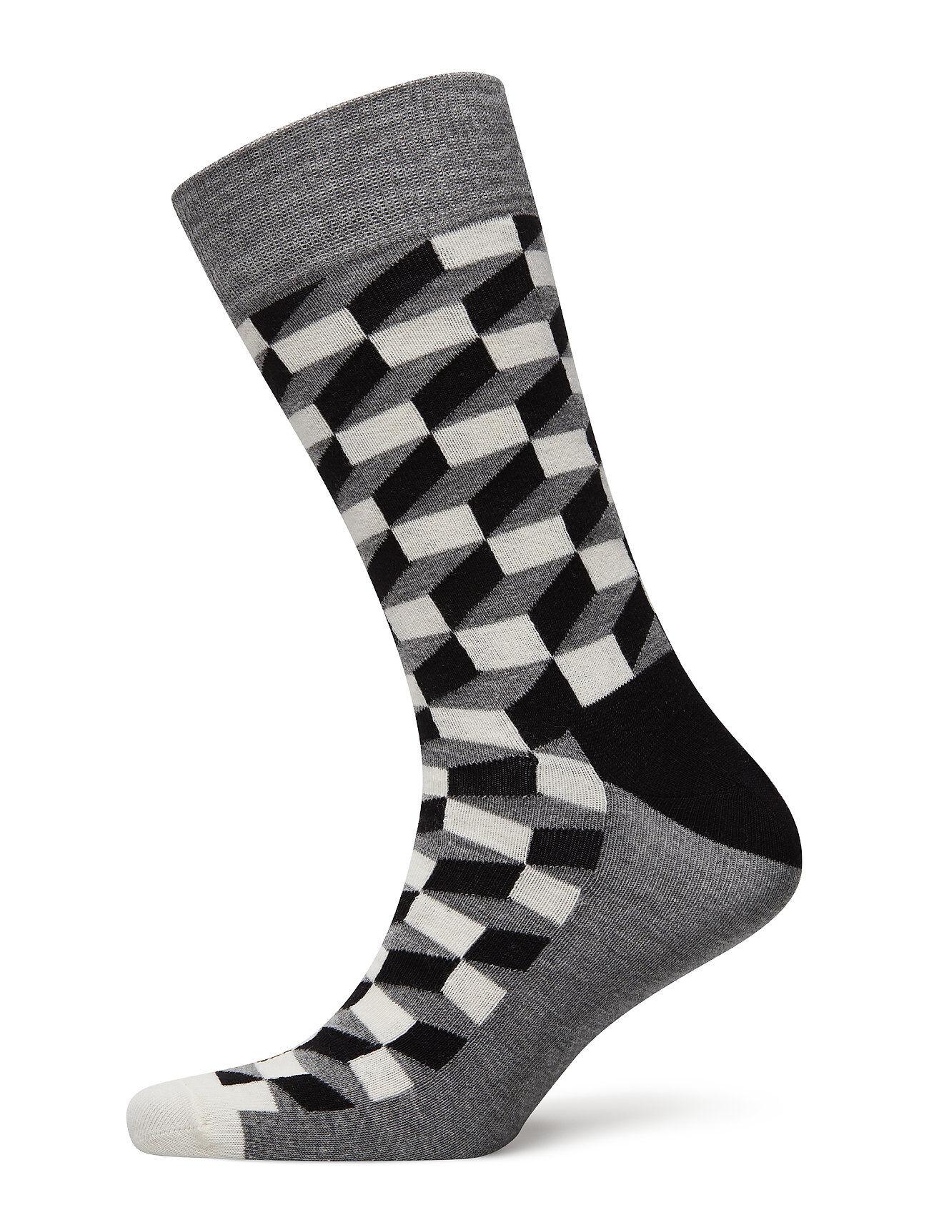 Happy Socks Filled Optic Sock M÷Rkbl≈