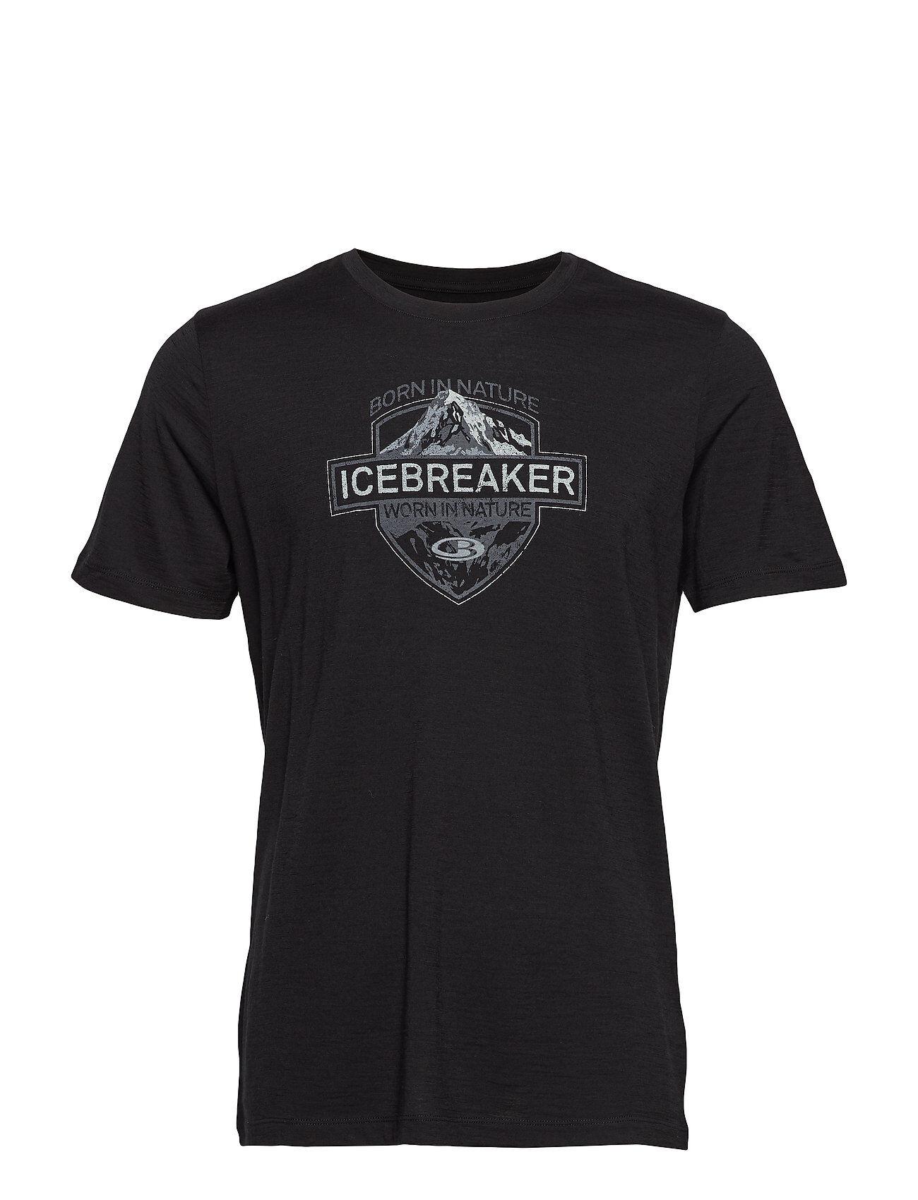 Icebreaker Mens Tech Lite Ss Crewe Alpine Crest