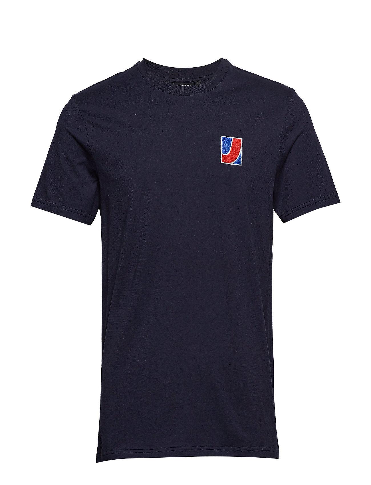 J. Lindeberg Brand Tee Bridge S Jersey T-shirts Short-sleeved Sininen