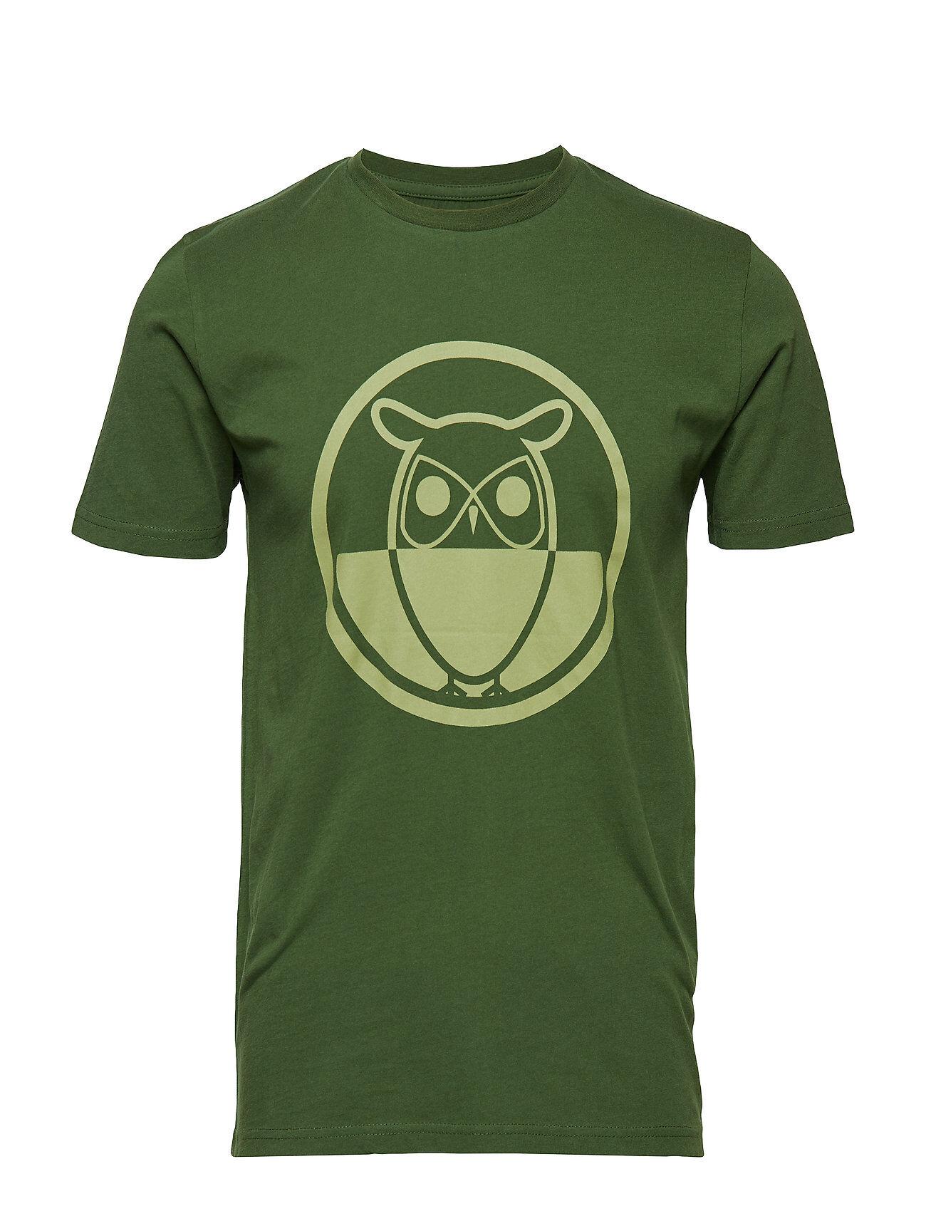 Knowledge Cotton Apparel T-Shirt With Round Logo Print - Got