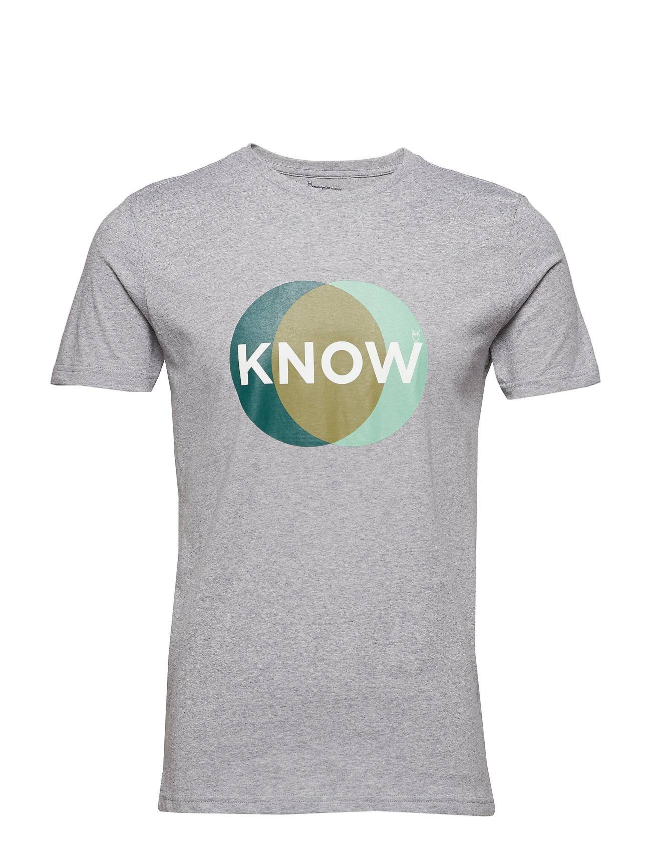 Knowledge Cotton Apparel T-Shirt With Know Print - Gots/Vega