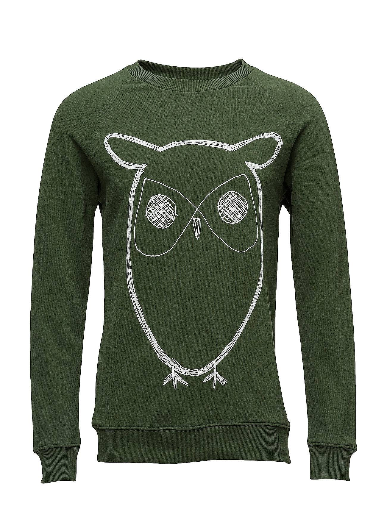 Knowledge Cotton Apparel Sweat Shirt With Owl Print - Gots/V