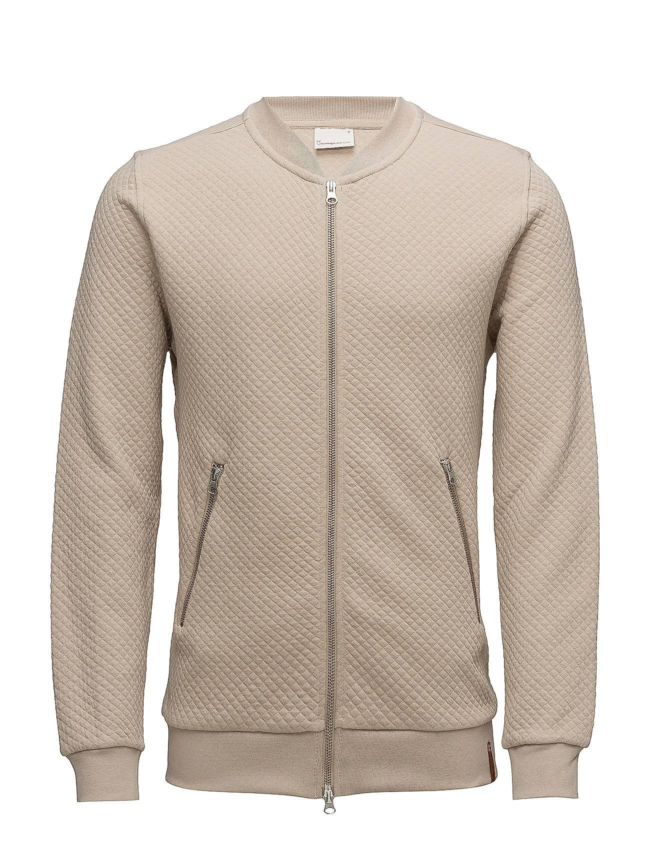 Knowledge Cotton Apparel Quilted Zip Cardigan - Gots