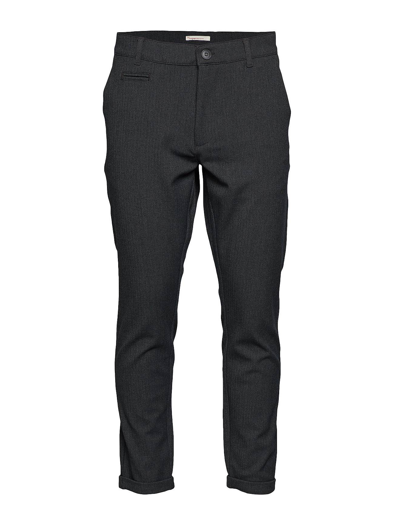 Knowledge Cotton Apparel Fishbone Structured Chino - Grs