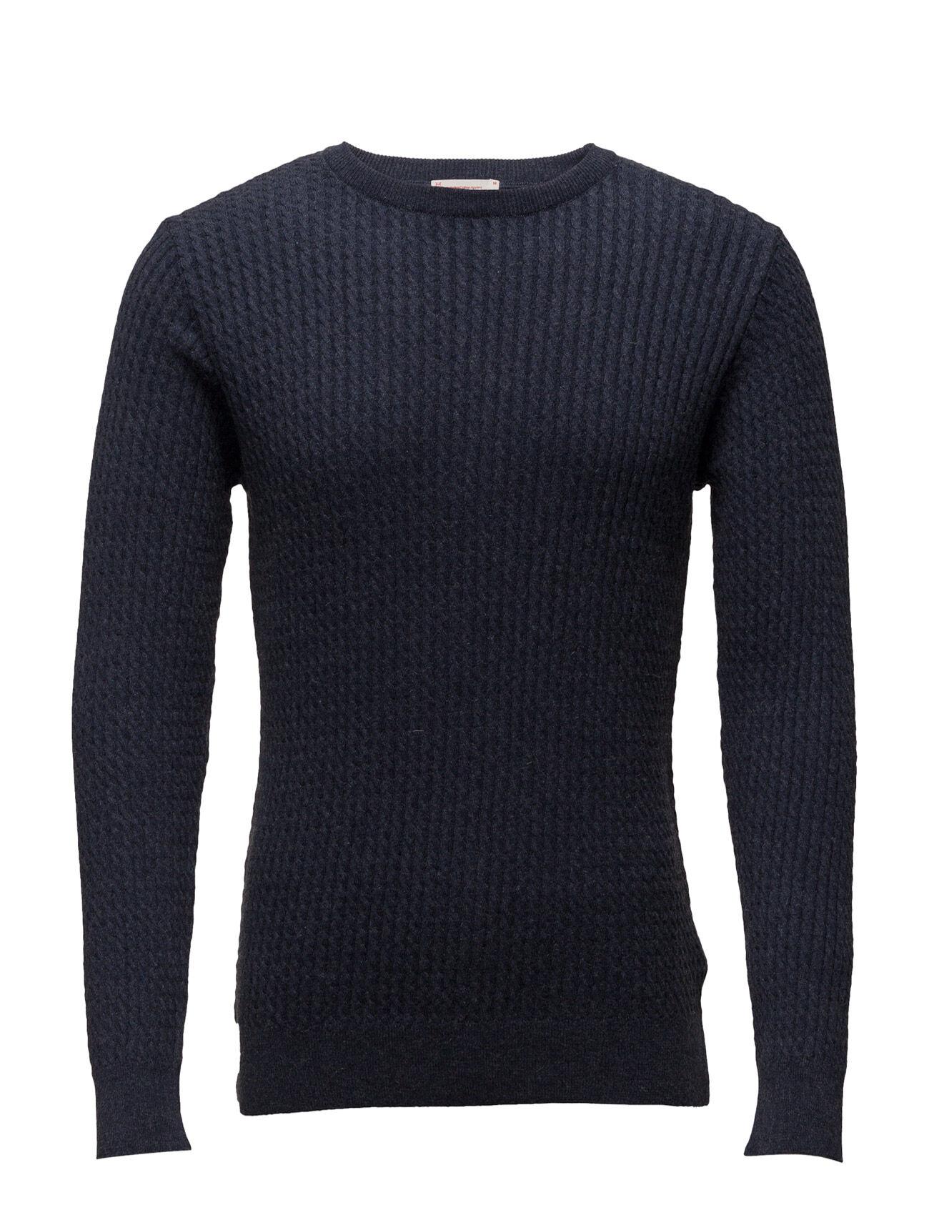 Knowledge Cotton Apparel Cotton/Cashmere Cable Knit - Gots