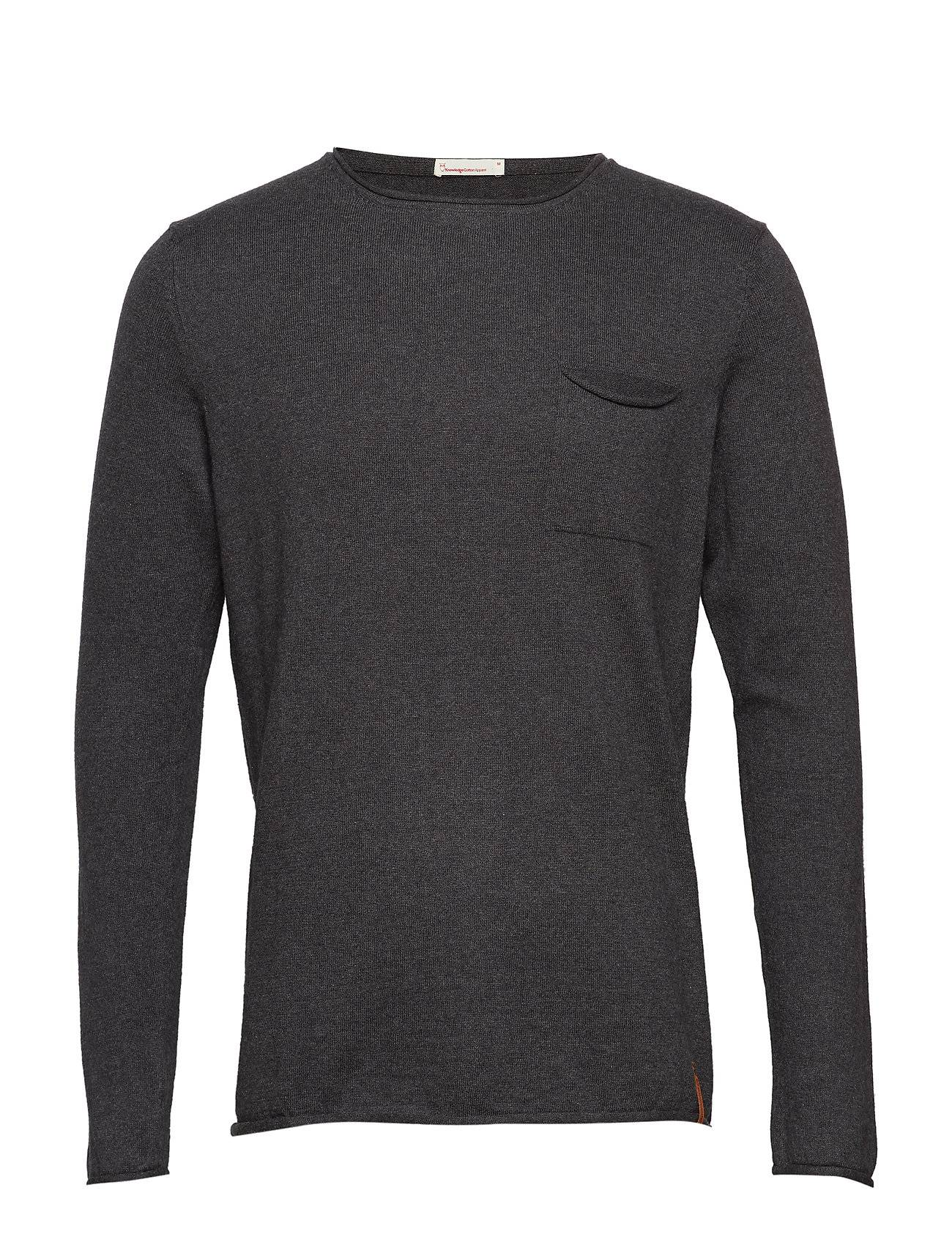 Knowledge Cotton Apparel Fine Single Knit With Roll Edges -