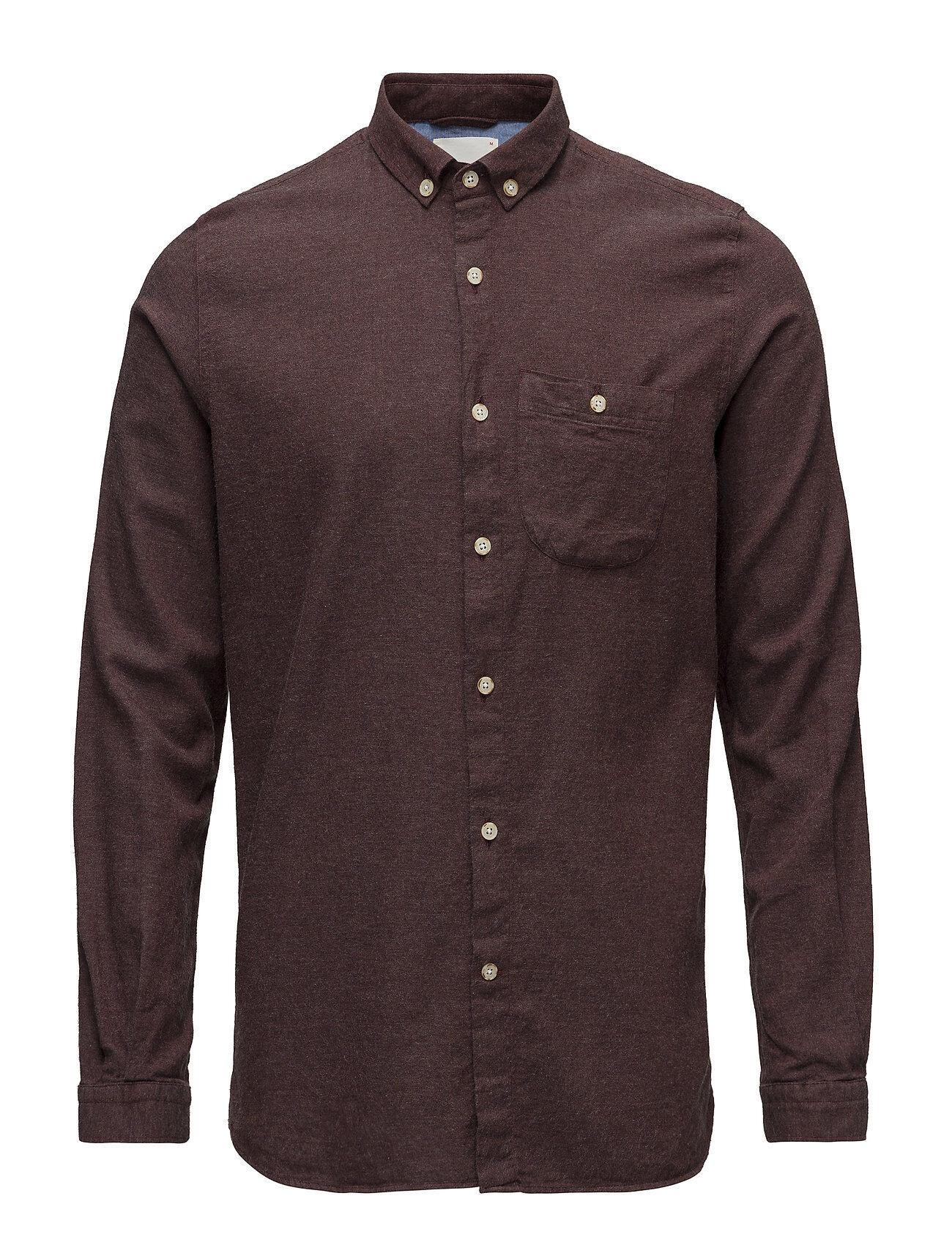 Knowledge Cotton Apparel Melange Effect Flannel Shirt - Gots