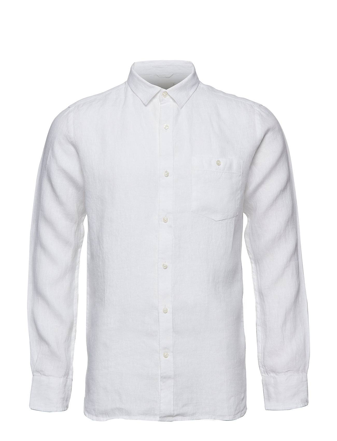 Knowledge Cotton Apparel Fabric Dyed Linen Shirt/Vegan