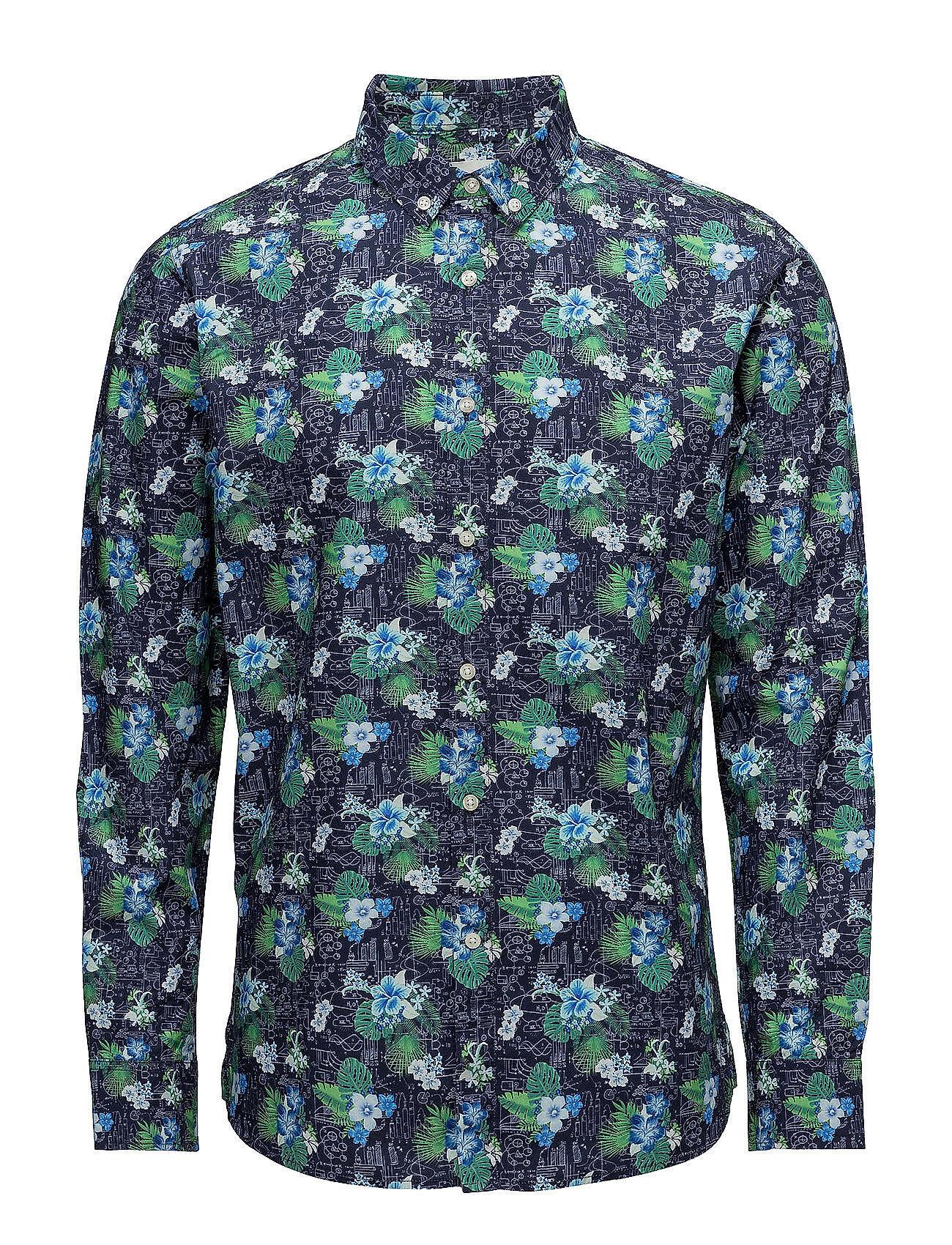 Knowledge Cotton Apparel Concept Print Shirt - Poplin - Gots