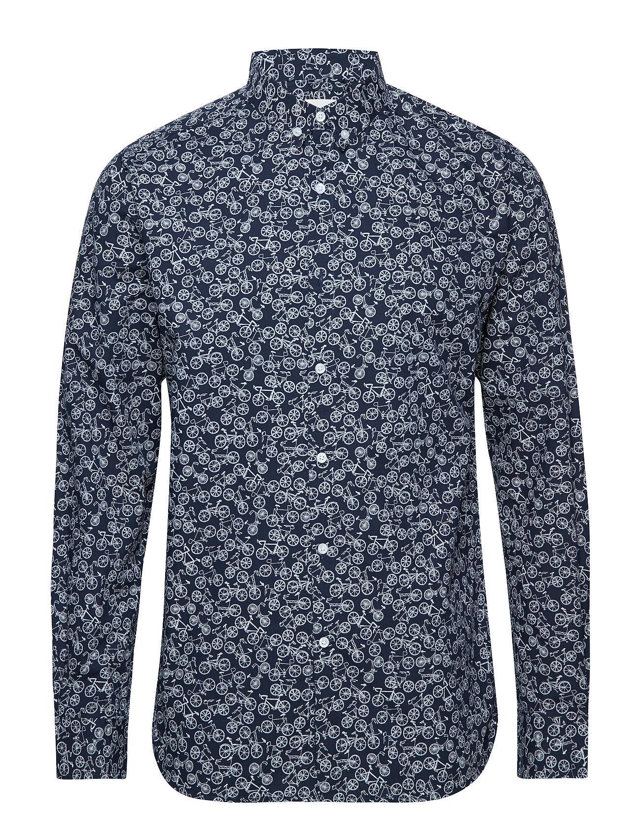 Knowledge Cotton Apparel Poplin Shirt With Bike Print - Gots