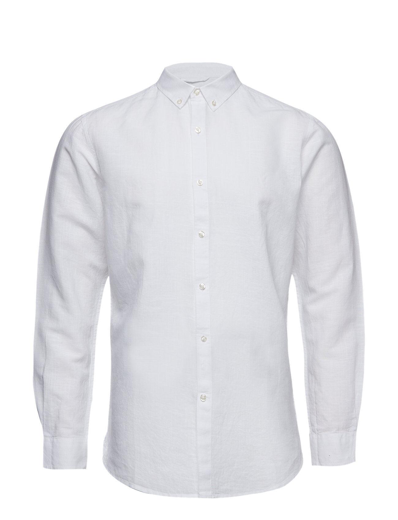 Knowledge Cotton Apparel Cotton Linen Long Sleeved Shirt - G