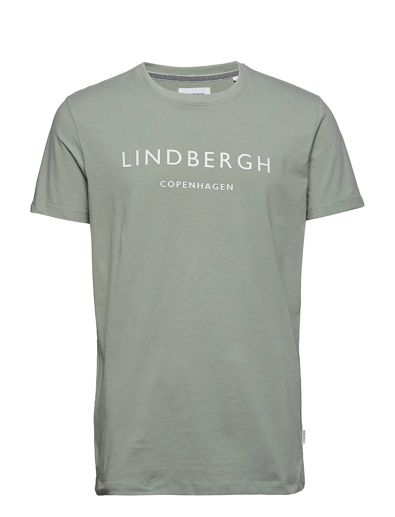 Lindbergh Mens Printed Crew-Neck Tee
