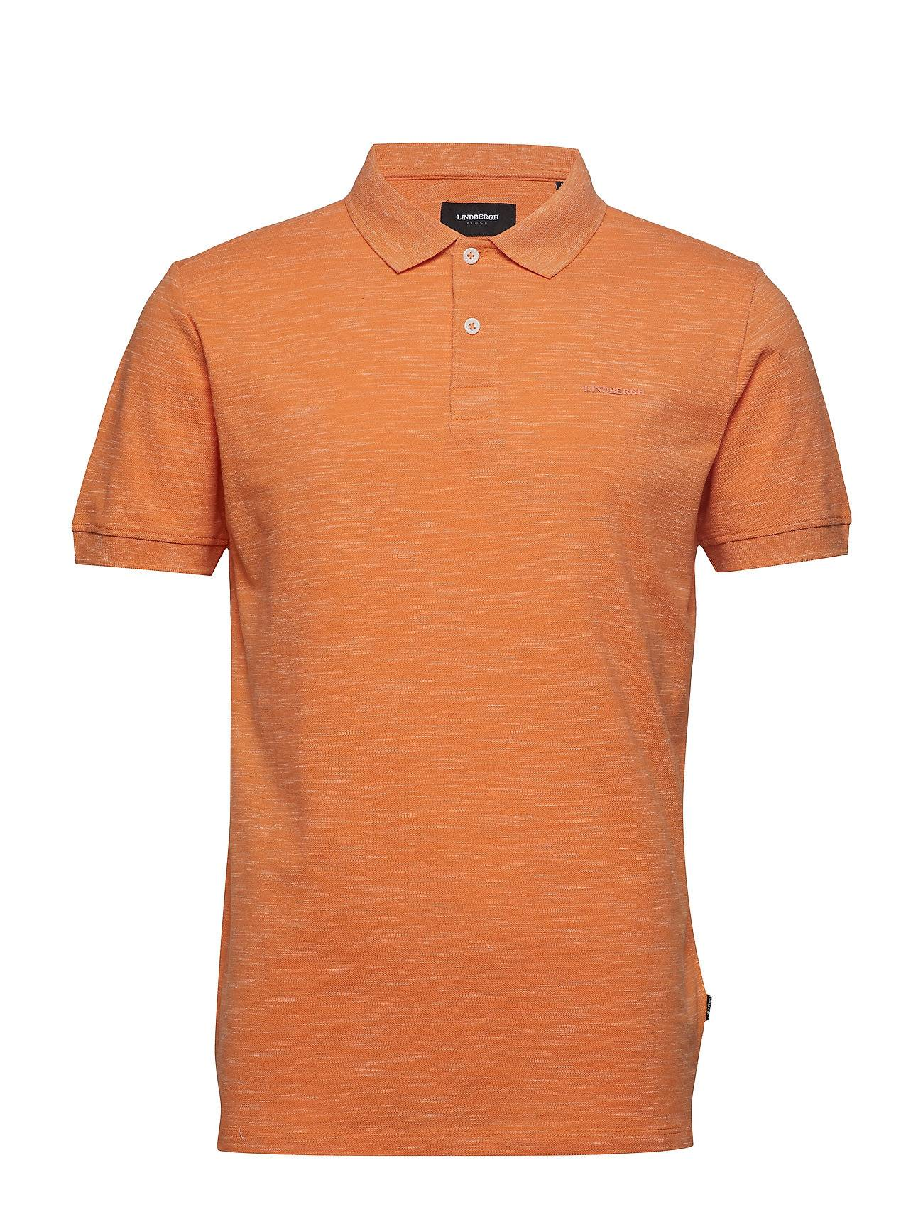 Lindbergh Space Dyed Polo W Solid Collar