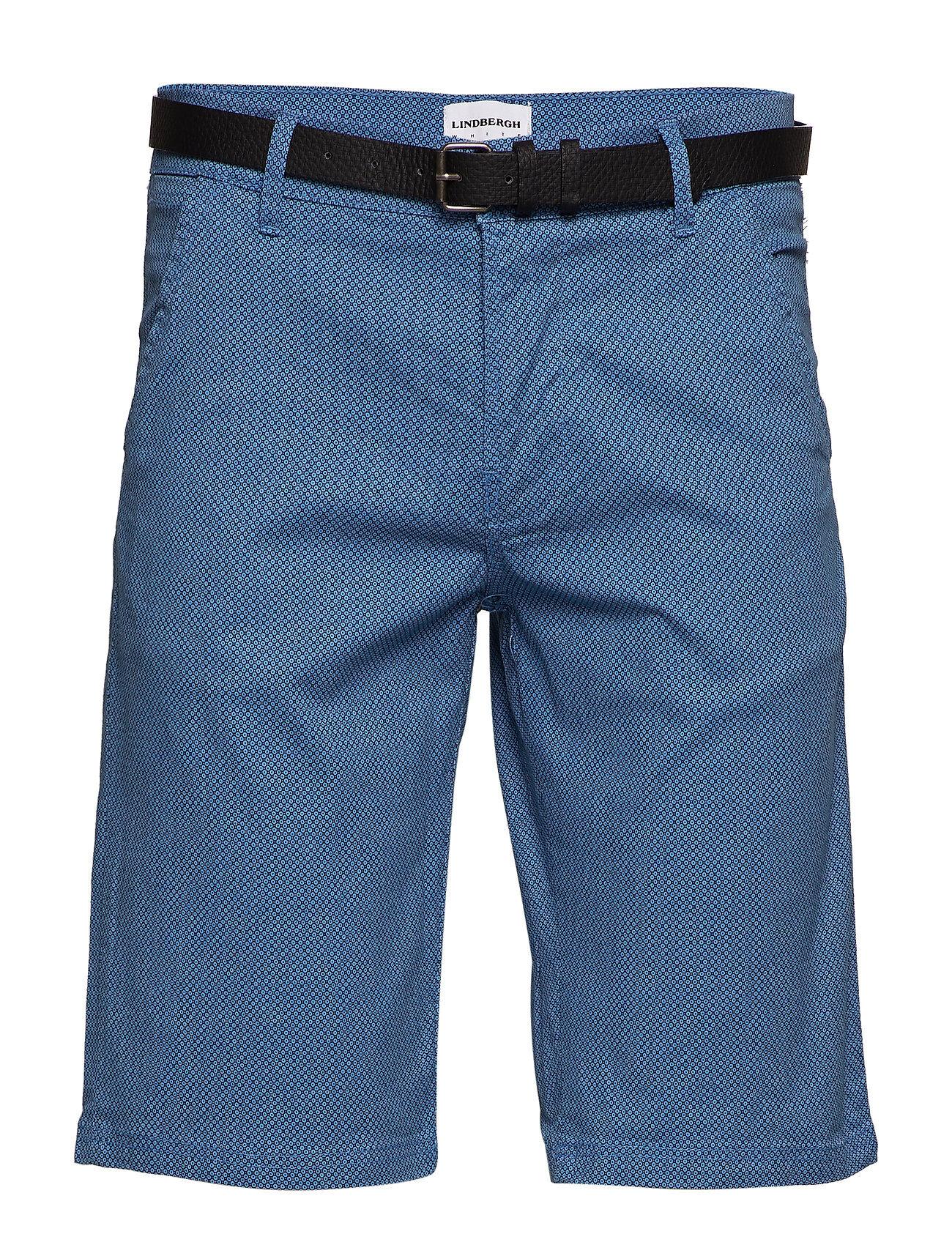 Lindbergh Aop Chino Shorts W. Belt