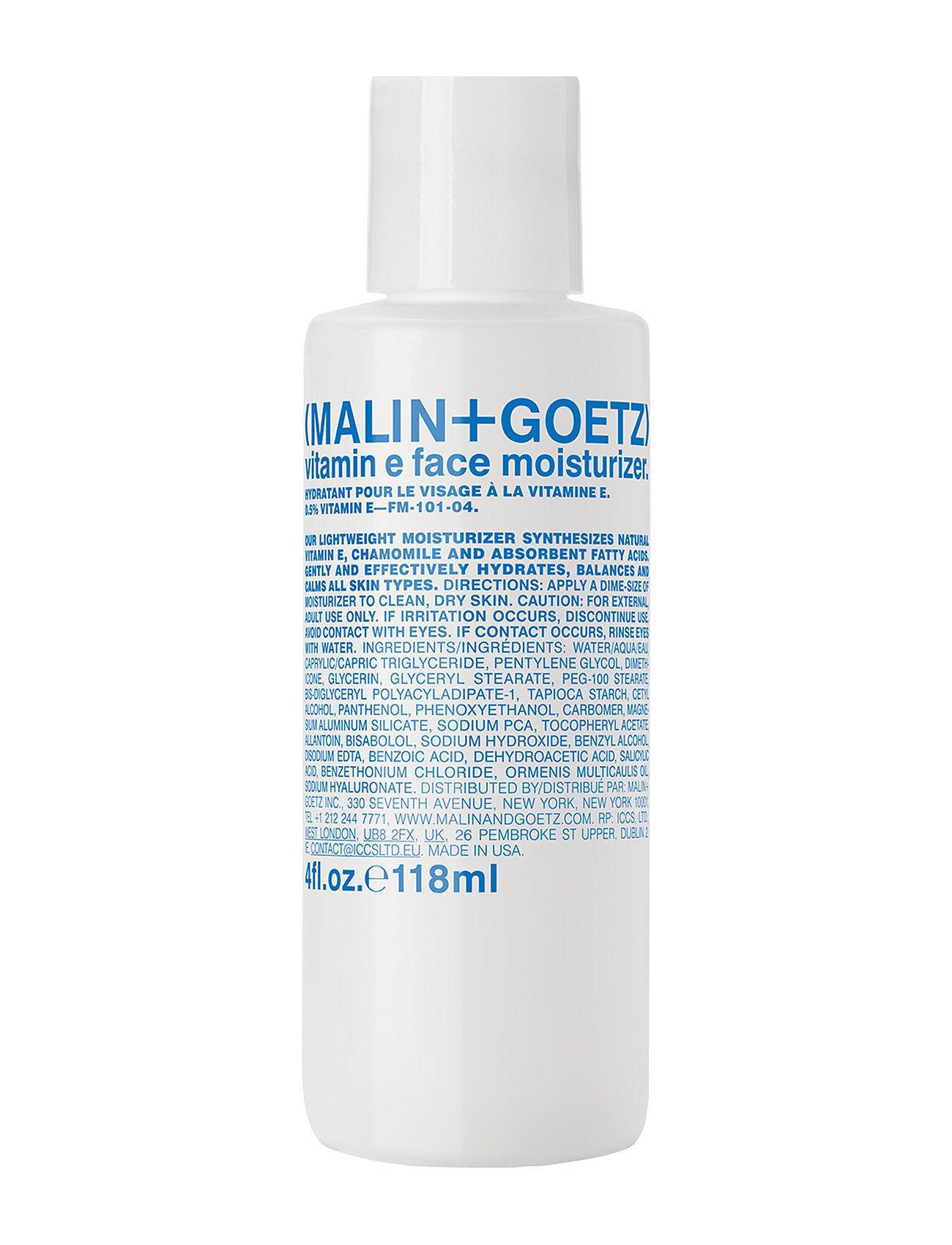 MALIN+GOETZ Vitamin E Face Moisturizer Kosteusvoide Kasvovoide Ihonhoito Nude MALIN+GOETZ