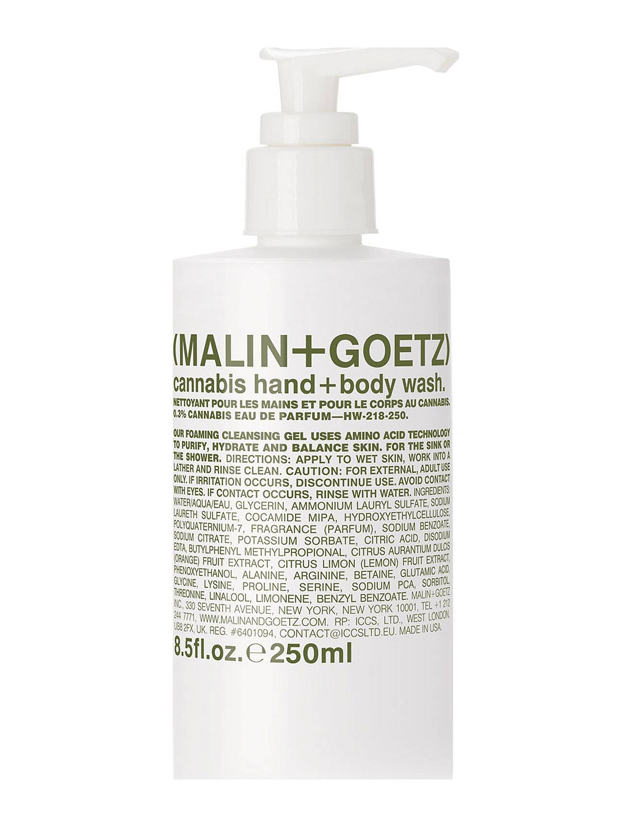 MALIN+GOETZ Cannabis Hand + Body Wash Suihkugeeli Nude MALIN+GOETZ
