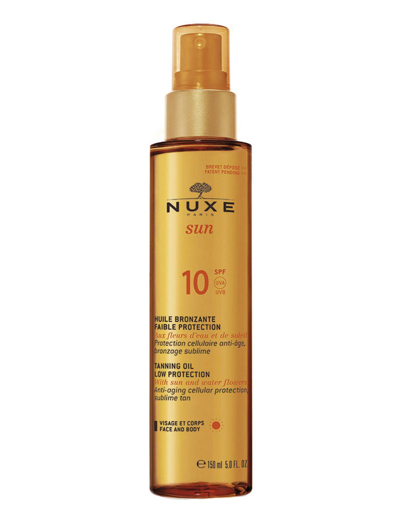 NUXE Tanning Oil Face & Body Spf10 Beauty MEN Skin Care Sun Products Face Nude NUXE