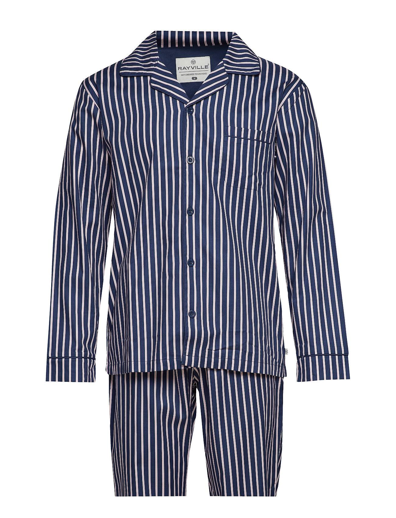 Rayville Mick Pyjamas Pencil Stripe - Blue/Pink - S