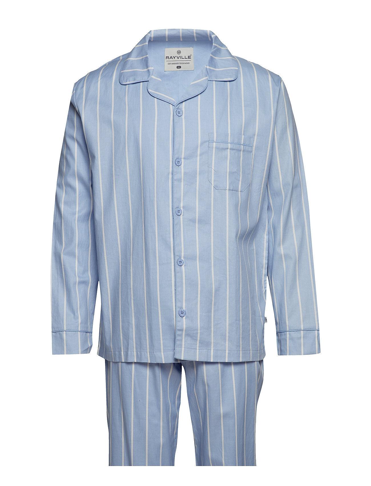Rayville Mick Pyjamas Club Stripe - Blue / White - S
