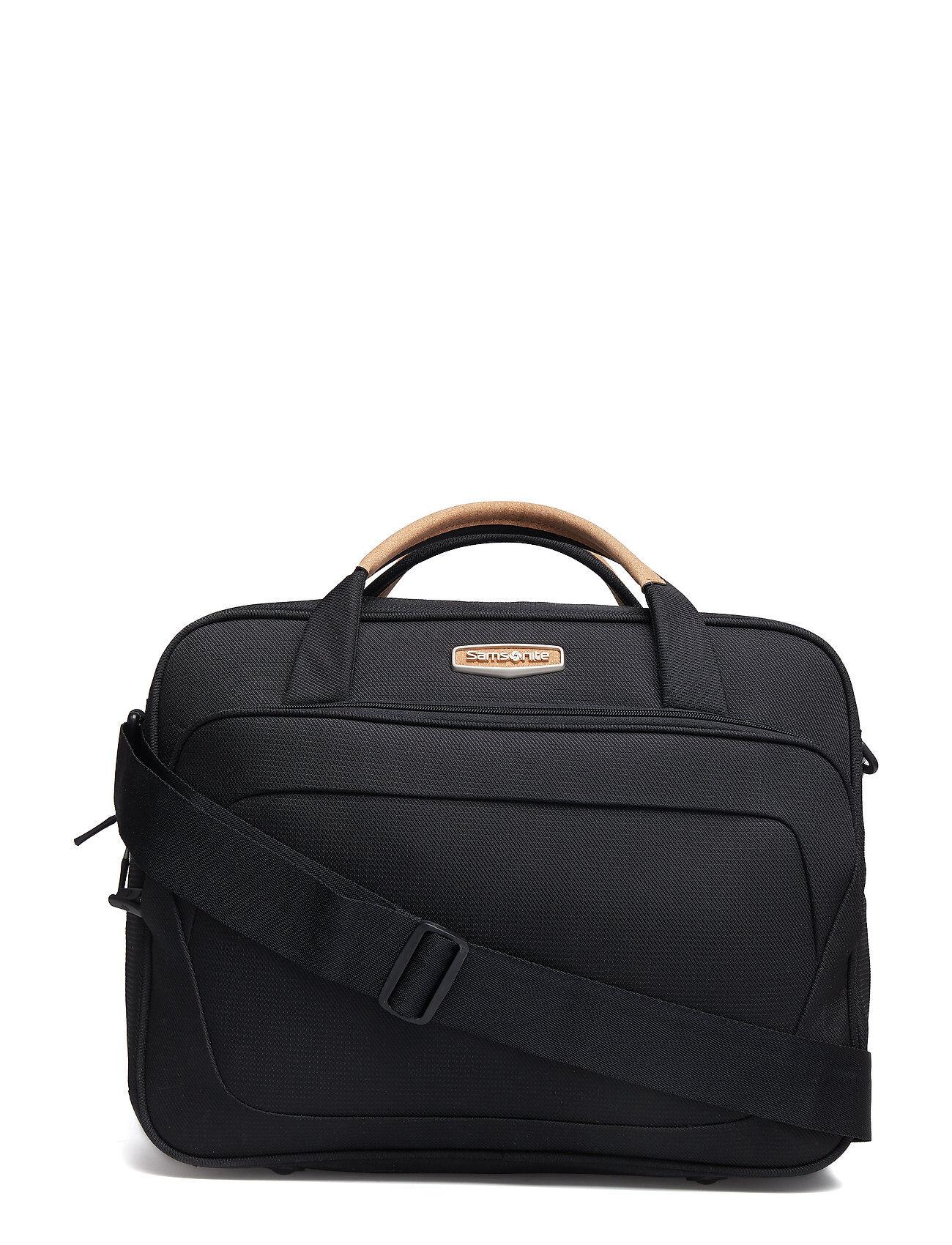 Samsonite Spark Sng Eco Shoulder Bag Tietok Laukku Läppärilaukku Laukku Musta