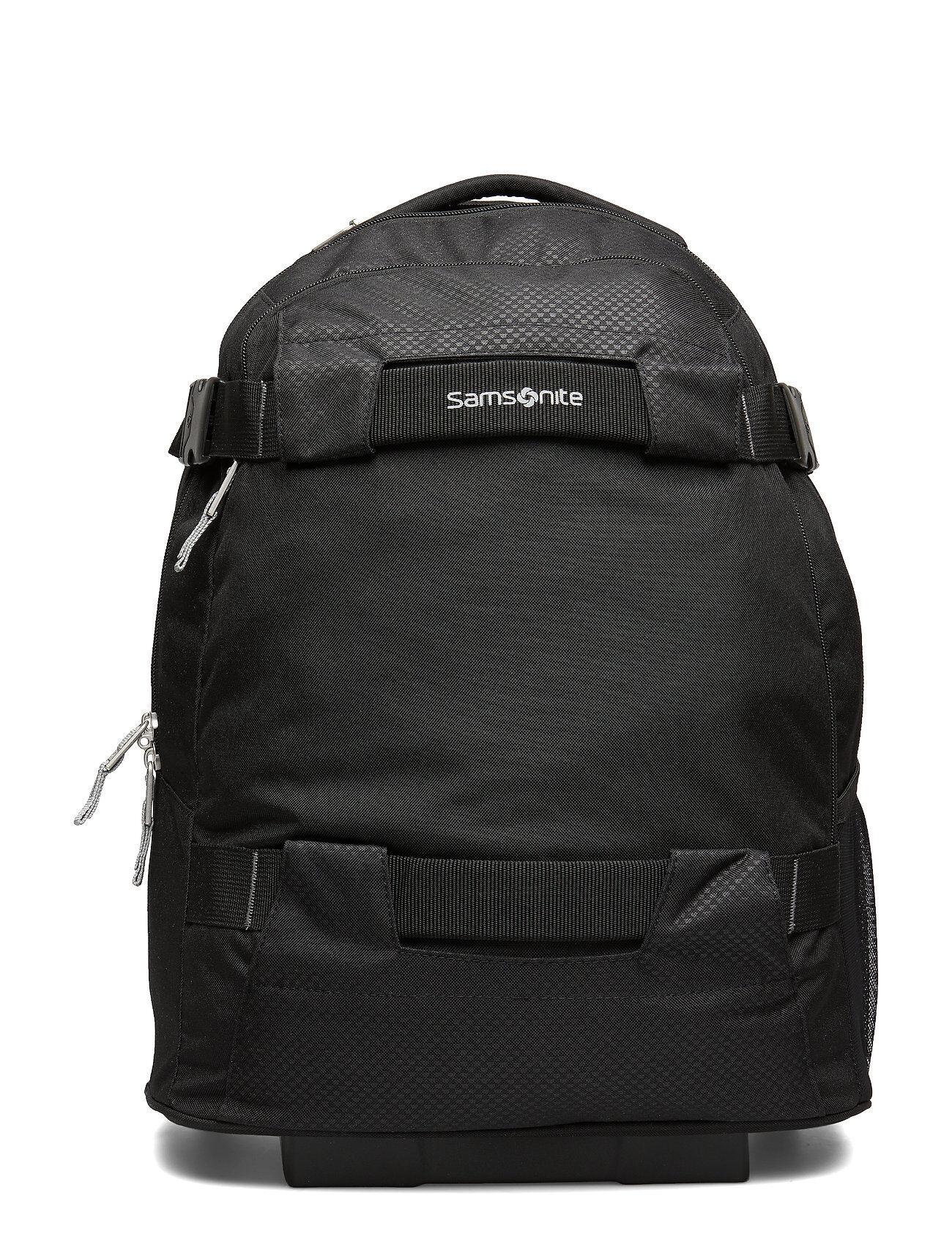Samsonite Sonora Laptop Backpack/Wheels Reppu Laukku Musta