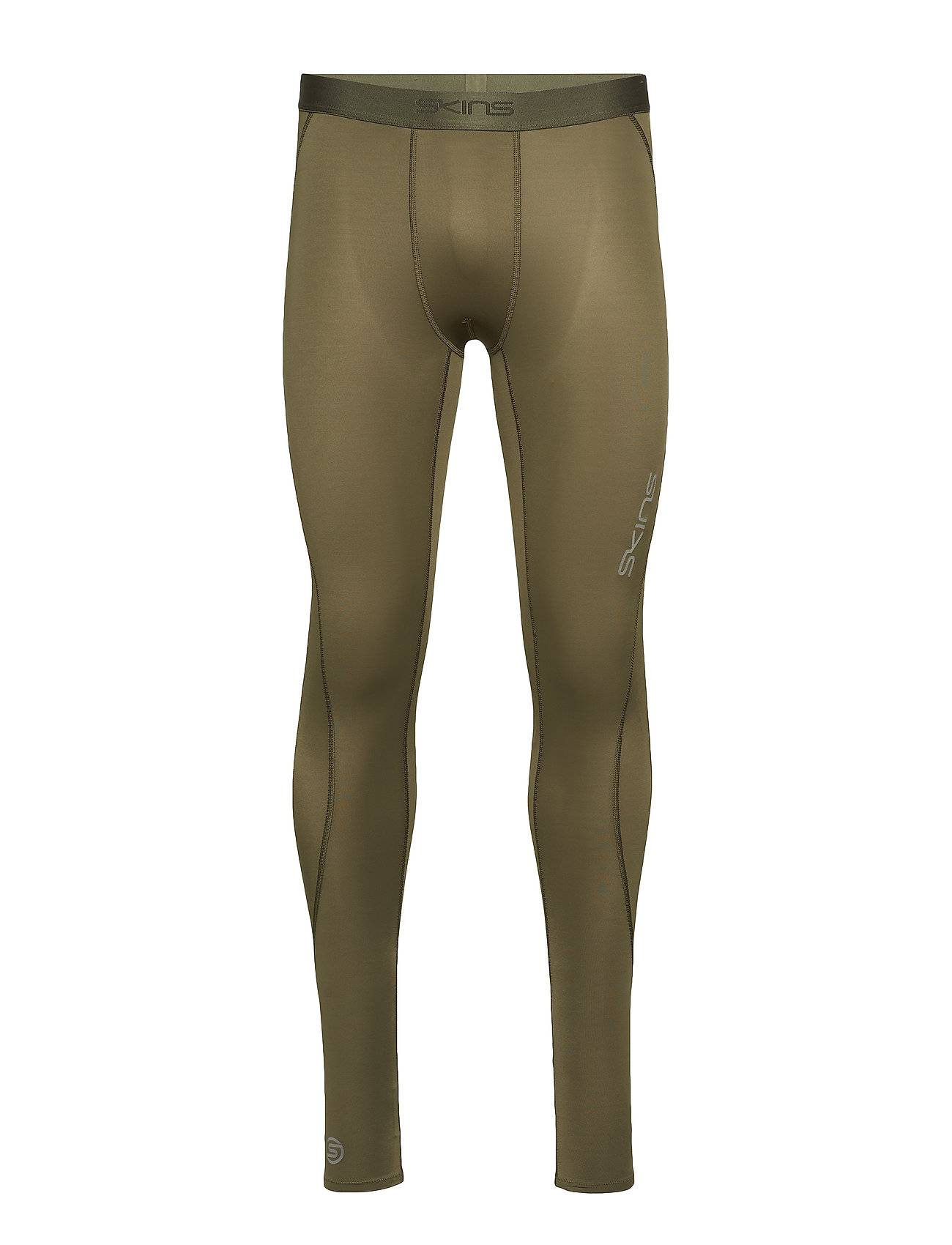 Skins Dnamic Mens Long Tights Running/training Tights Vihreä Skins
